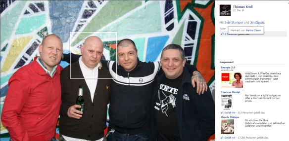 Jim CLason bei Old Firm Casuals mit Sebi etc